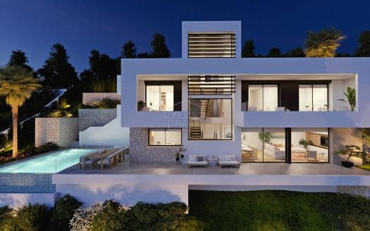 Awesome property with 180 ° sea views in Altea